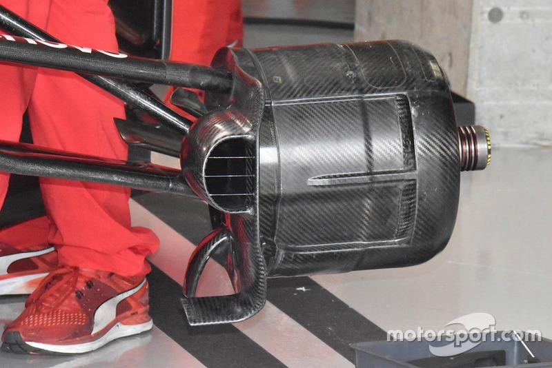 Ferrari SF71H : écope de frein avant