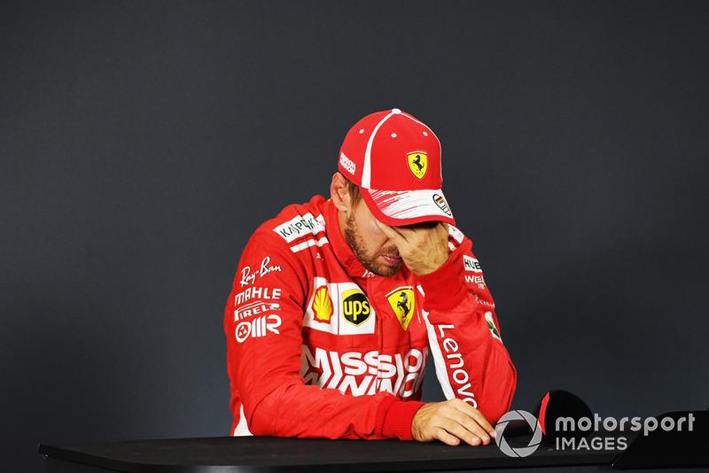 Sebastian Vettel, Ferrari en conferencia de prensa