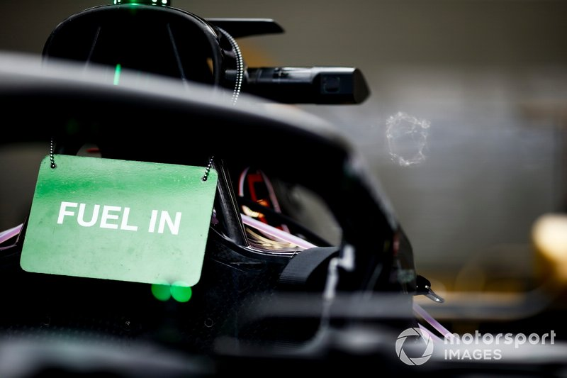 Haas F1 Fuel in sign