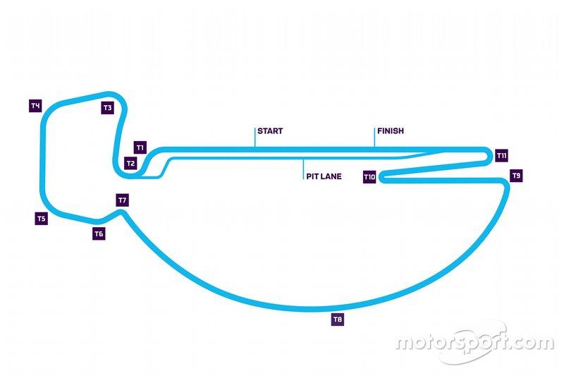 Santiago ePrix pist düzeni