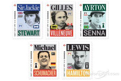 Selos da F1 da Canada Post
