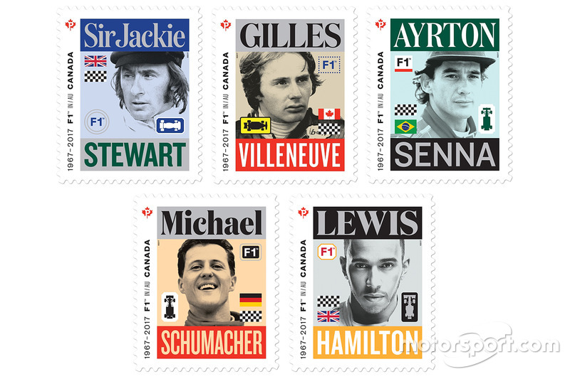 Почтовые марки Канады: Формула 1