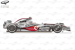 McLaren MP4-23 2008 side view