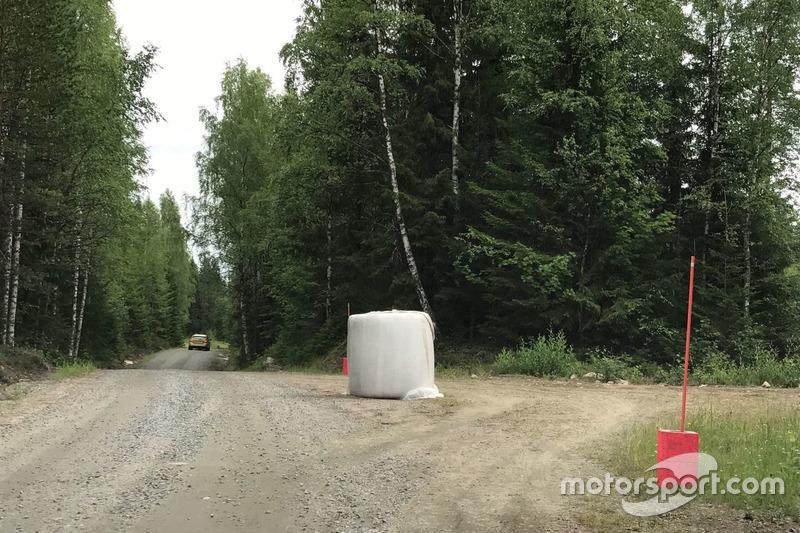 Chicane en el Rally de Finlandia