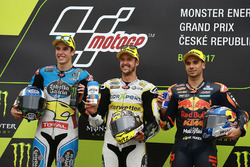 Podium: race winner Thomas Luthi, CarXpert Interwetten, second place Alex Marquez, Marc VDS, third p