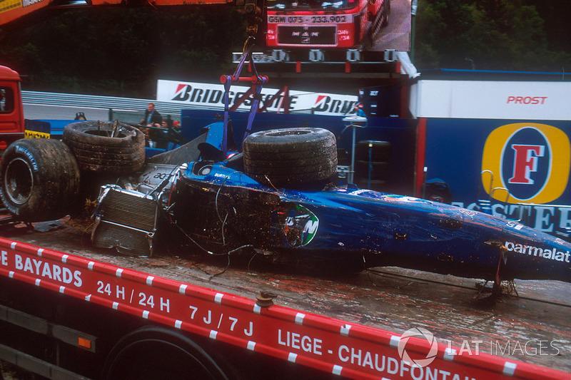Болід Лучано Бурті, Prost AP04, після аварії