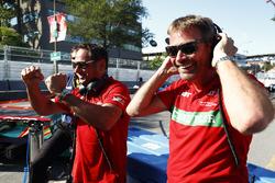 The Abt Audi team celebrate at Parc Ferme