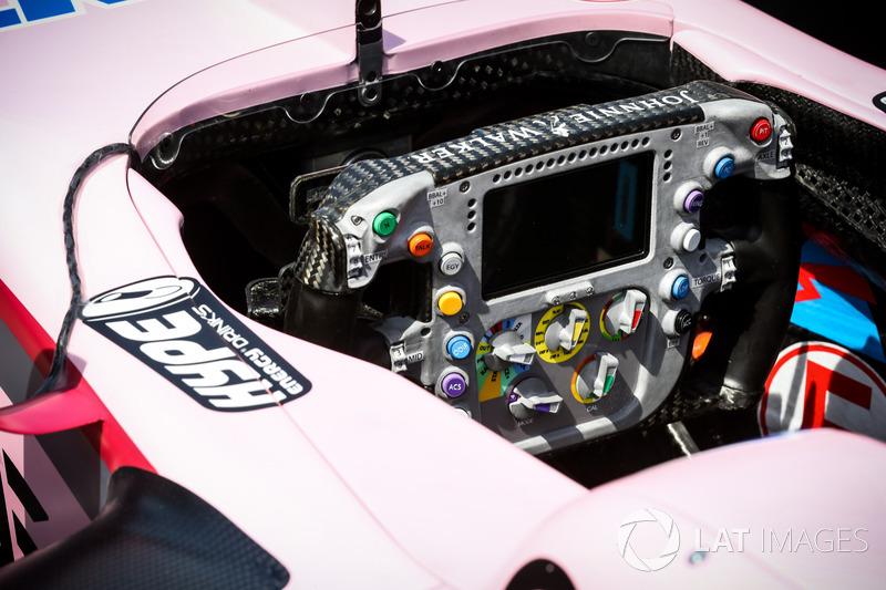 Sahara Force India VJM10, Lenkrad