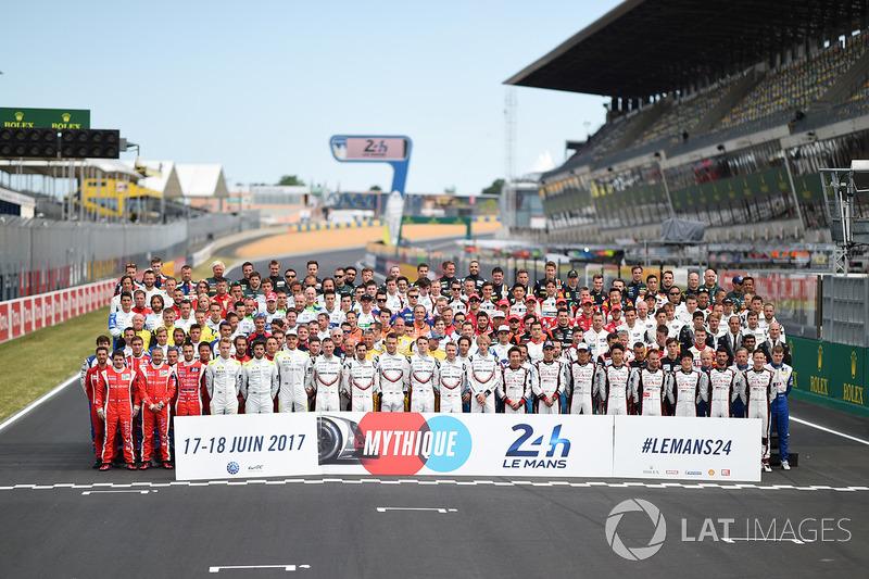 Para pembalap Le Mans 2017: 180 pembalap, termasuk 53 Rookie