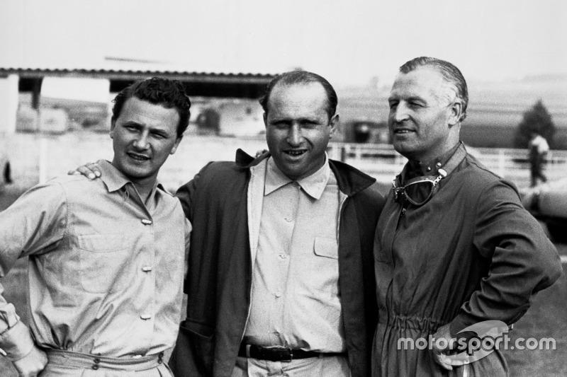 Hans Herrmann, Juan Manuel Fangio et Karl Kling, Mercedes