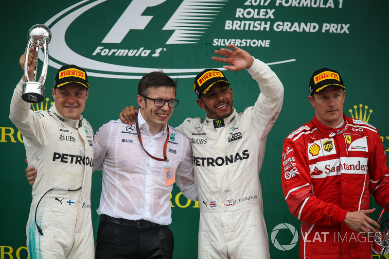 Valtteri Bottas foi o segundo colocado e Kimi Raikkonen terminou em terceiro.