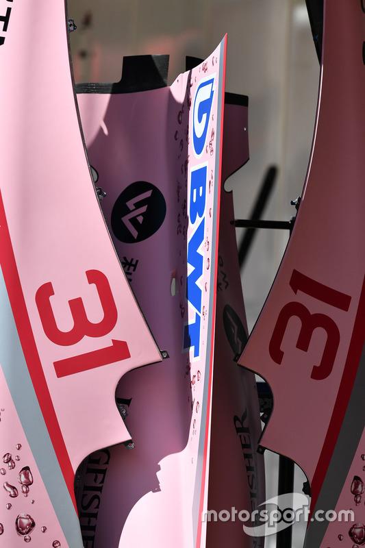 Sahara Force India VJM10 detalle chasis