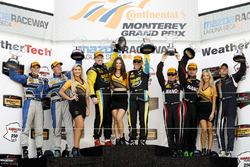 Podio GS: i vincitori Al Carter, Steven Phillips, al secondo posto Trent Hindman, Cameron Cassels, al terzo posto Jack Roush Jr., Nathan Stacy, Scott Maxwell