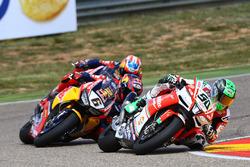 Eugene Laverty, Milwaukee Aprilia World Superbike Team; Stefan Bradl, Honda World Superbike Team