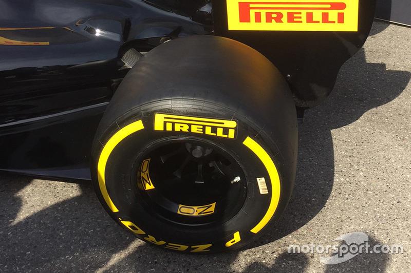 Gomma Pirelli 2017, dettaglio