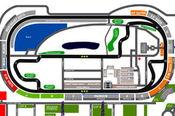 Infield road course map