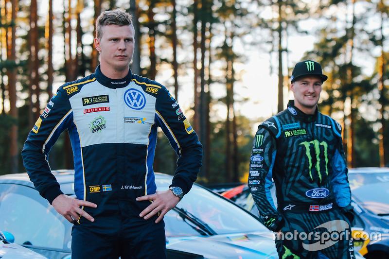 Johan Kristoffersson, Volkswagen Team Schweden, Andreas Bakkerud, Hoonigan Racing Division Ford