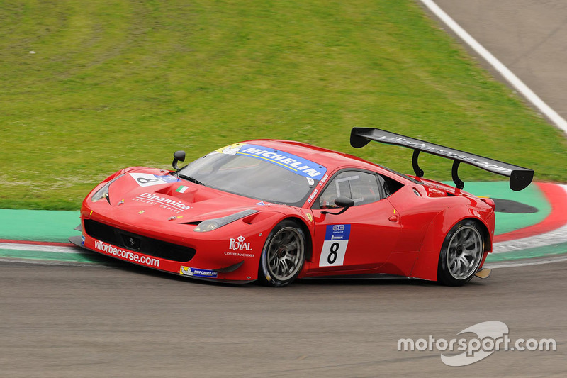 #8 Scuderia Villorba Corse, Ferrari F458 Italia GT3: Cédric Mezard, Steeve Hiesse