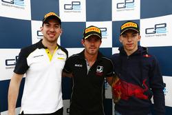 Николя Латифи, DAMS, Норман Нато, Racing Engineering и Пьер Гасли, Prema Racing на пресс-конференции
