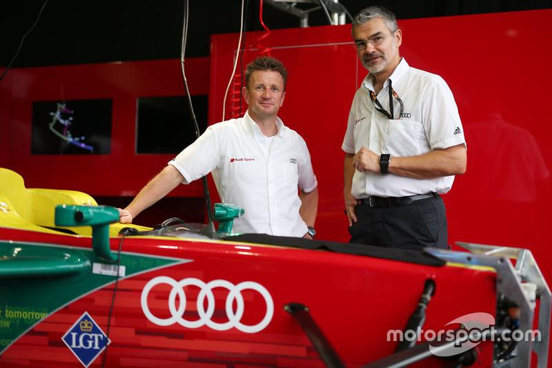 Allan McNish und Dieter Gass, Audi Sport
