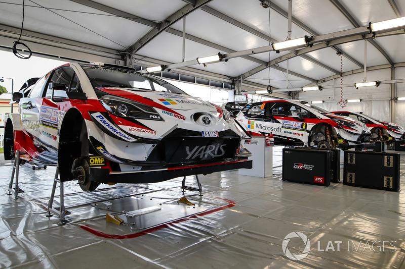 Área del equipo Toyota Gazoo Racing