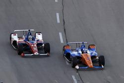 Tony Kanaan, A.J. Foyt Enterprises Chevrolet, Scott Dixon, Chip Ganassi Racing Honda