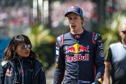 Brendon Hartley, Scuderia Toro Rosso and Fabiana Valenti, Scuderia Toro Rosso Head of Communications
