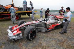انسحاب لويس هاميلتون، مكلارين، من سباق الصين 2007
