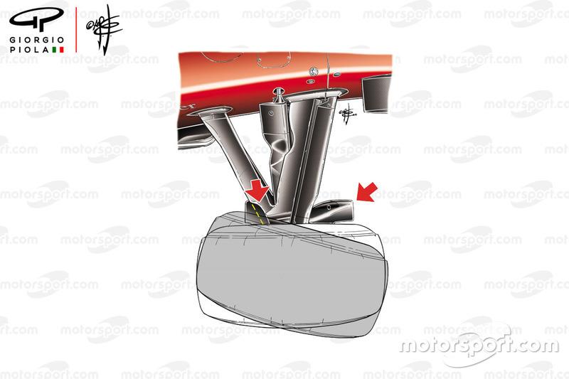 Угол поворота колес Ferrari F10, Гран При Монако