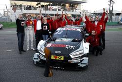René Rast, Audi Sport Team Rosberg, Audi RS 5 DTM celebrate with the team