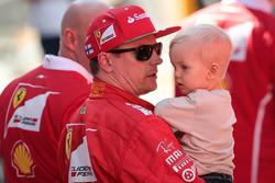 Kimi Raikkonen, Ferrari with his son Robin