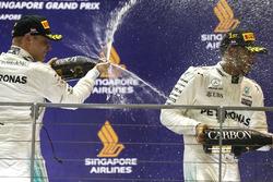 Podium: race winner Lewis Hamilton, Mercedes AMG F1, third place Valtteri Bottas, Mercedes AMG F1