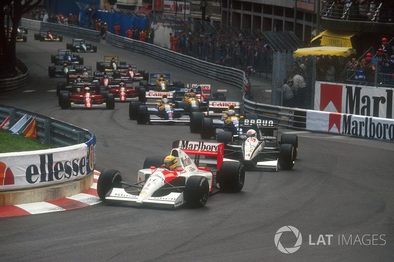 В 1991-м Сенна вновь стартовал с поула и выиграл гонку