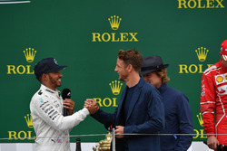 Valtteri Bottas, Mercedes AMG F1, Jenson Button, McLaren and Lewis Hamilton, Mercedes AMG F1 on the podium