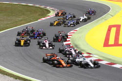 Felipe Massa, Williams FW40; Fernando Alonso, McLaren MCL32; Esteban Ocon, Sahara Force India F1 VJM10; Sergio Perez, Sahara Force India F1 VJM10