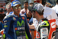 Second place Valentino Rossi, Yamaha Factory Racing, Cal Crutchlow, Team LCR Honda
