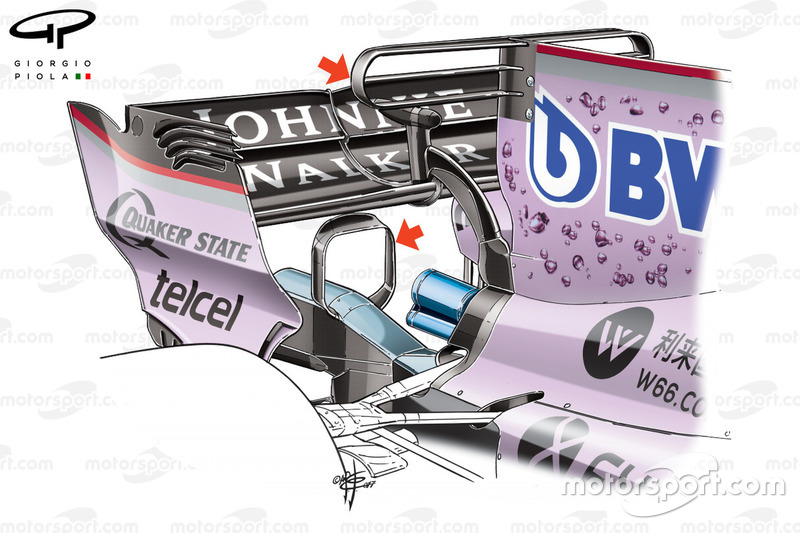 Force India VJM10 T-wing, Monaco GP