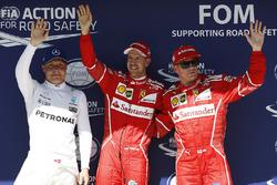 Себастьян Феттель, Кімі Райкконен, Ferrari, Валттері Боттас, Mercedes-Benz F1
