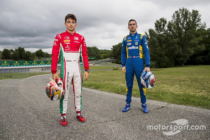 Charles Leclerc, PREMA Powerteam and Nicholas Latifi, DAMS