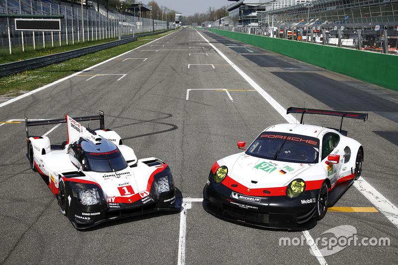 The Porsche 919 Hybrid and Porsche 911 RSR