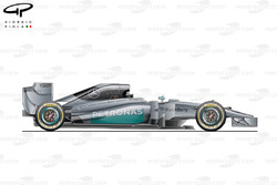 Mercedes W05 side view (launch)