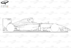 Force India VJM07 side view (outline) (Launch car)