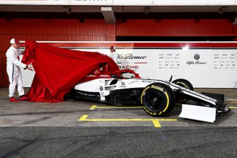 Kimi Raikkonen, Alfa Romeo Racing and Antonio Giovinazzi, Alfa Romeo Racing unveil the new Alfa Romeo Racing C38