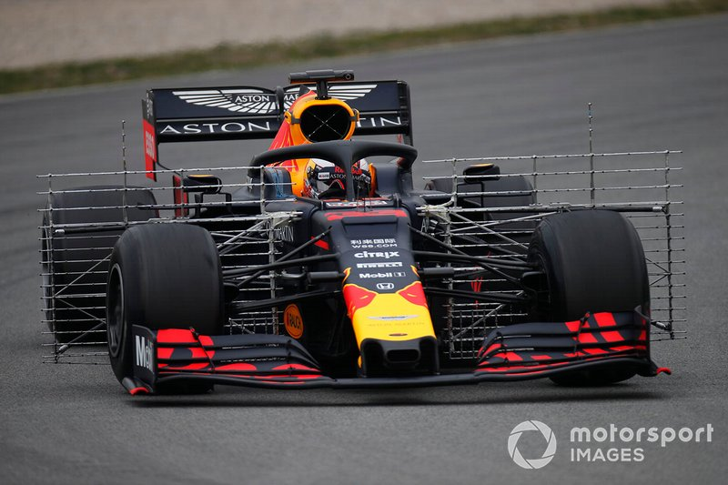 Max Verstappen, Red Bull Racing RB15 with aero sensors