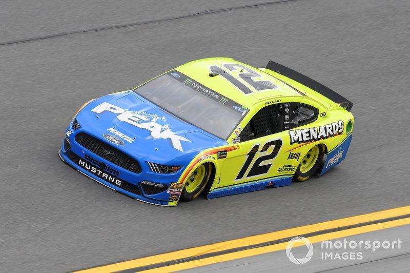 #12: Ryan Blaney, Team Penske, Ford Mustang