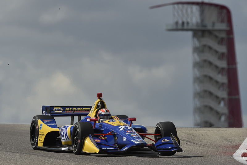 Alexander Rossi testing his Andretti Autosport-Honda at Circuit of The Americas last fall.