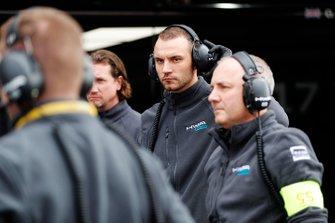 HWA Racelab team members in the pit lane