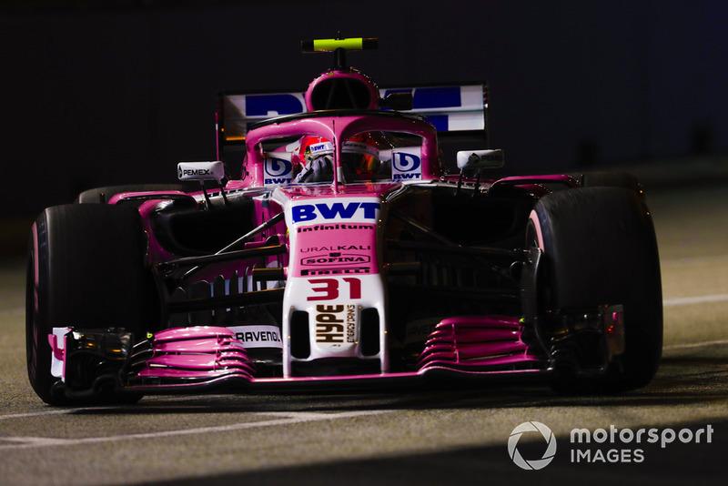 20 місце — Естебан Окон, Force India. Умовний бал — 5,02