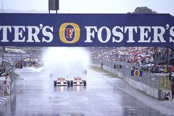 Ayrton Senna, McLaren MP4/5 Honda and Alain Prost, McLaren MP4/5 Honda