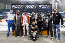 Karl Massad, Prince Khaled Al Faisal, President of the Motor Federation Of Saudi Arabia, Khaled Al-Qassimi, Ahmed Bin Khanen, Fala Aljarba, Khaled Al Qubaisi, Mansour Chebli, and Fredrik Johnsson of ROC